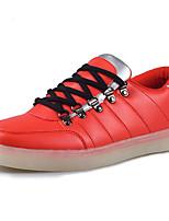 Синий Красный-Женский-Повседневный Для занятий спортом-Наппа Leather-На плоской подошвеКеды