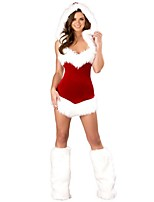 Adults Womens Sexy Christmas Costume Dreamgirl Women's Santa Baby Costume Sexy santa Dress Santa Claus Costumes Outfit