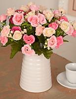 1 1 Ramo Plástico / Outras Rosas / Plantas / Outras Flor de Mesa Flores artificiais