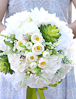 Round Roses White Wedding Flowers Bouquets Wedding Decoration