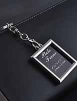 Stainless Steel Wedding Keychain Favors-1 Piece/Set Couples Keychains Non-personalised Character photos Rectangle Design Valentine's Day