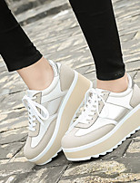 Черный / Бежевый-Женский-На каждый день-ЗамшаУдобная обувь-Кеды