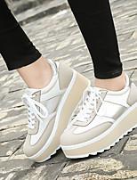 Women's Sneakers Fall Comfort Suede Casual Black Beige