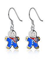 Women Christmas Gift The Snowman Eardrop Ear Hook Earrings