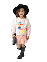 Girl Casual/Daily Print Sets,Cotton / Rayon Winter / Spring / Fall Long Sleeve Clothing Set