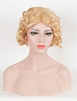 женщины горячие продажи светлые цвета синтетические парики короткие вьющиеся парики