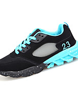 Women's Athletic Shoes Spring / Fall Comfort PU Athletic Flat Heel Lace-up Black / Blue / Red Running