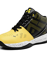 Men's Athletic Shoes Comfort Leather Athletic Flat Heel Lace-up Yellow / Black and Red / Black and White