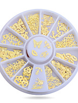 1pcs  Metal Nail Art Sticker Decoration Wheel Butterfly Tiny Slice DIY Nail Accessories
