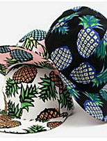 Big pineapple design baseball cap Printed flat hat Sun hat Breathable / Comfortable  BaseballSports