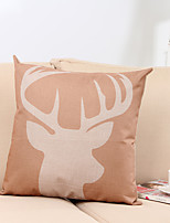 1 pcs Cotton/Linen Pillow Case,Holiday Traditional/Classic