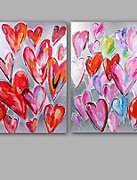 Hand-Painted Abstract 100% Hang-Painted Oil PaintingModern / Classic Two Panels Canvas Oil Painting For Home Decoration