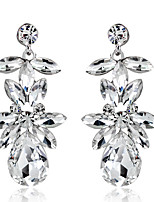 1 pair AAA Zircon Drop Dangle Earrings Fine Jewelry 2.3*5.2cm