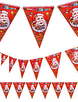 5PCS Christmas Pennant Christmas Mall Store Decoration Design of Santa Claus 8 Face Flag