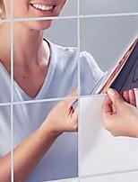Зеркала Наклейки Зеркальные стикеры Декоративные наклейки на стены,PVC материал Съемная Украшение дома Наклейка на стену