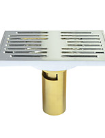 Bathroom Accessory Chrome Finish Solid Brass Floor Drain