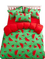 Mingjie Wonderful Green and Red watermelon Bedding Sets 4PCS for Twin Full Queen King Size from China Contian 1 Duvet Cover 1 Flatsheet 2 Pillowcases