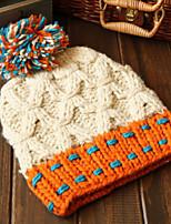 Для женщин Для женщин На каждый день Вязаная шапочка,Трикотаж,осень / Зима