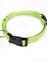 Cat / Dog Collar Reflective / Adjustable/Retractable / Breathable / Running / Safety / Cosplay / Casual Solid Green / Blue / Rainbow