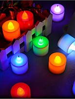 24pcs/box Fliker Flameless LED Tea light  Battery Candle Light for Party  Holiday Wedding Candles Lights Decoration Candles Lamp Random Color
