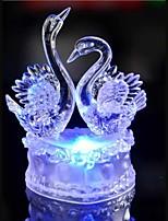 הובל מנורת אווירת קישוט הצבעוני קריסטל שני ברבור אור חידוש תאורת חג המולד