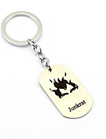 Inspired by Junkrat Overwatch  Anime Cosplay Accessories Keychain Silver Alloy