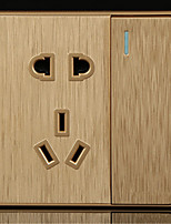 86-Type Large-Screen Drawing A Single Five-Hole Single-Wall Switch