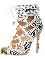 Women's Sandals Spring Summer Fall Others Leatherette Dress Casual Party & Evening Stiletto Heel Lace-up Black