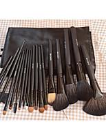 18Pinceau de Coloration des Cils / Pinceau Eventail / Pinceau Poudre / Pinceau Fond de Teint / Contour Brush / ensembles de brosses /