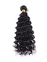 Natural Color Hair Weaves Brazilian Texture Deep Wave 1 Piece hair weaves