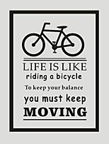 AYA DIY Wall Stickers Wall Decals Bicycle PVC Wall Stickers 55*75cm