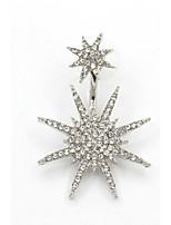 Boucles d'oreille goujon Mode Galaxie Zircon Strass Forme d'Etoile Or Argent Bijoux Pour Mariage Soirée Anniversaire Quotidien Décontracté