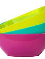 מזון כיתה פלסטיק צלחת מרובע צלחת פירות של זרעי מלון קערית חטיפים ממתקים צלחת פירות (צבע אקראי)