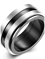 Ring Non Stone Party / Daily / Casual Jewelry Stainless Steel Men Ring 1pc,7 / 8 / 9 / 10 Black