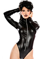 Cosplay Costumes Cosplay Movie Cosplay Black Solid Leotard/Onesie Halloween / Carnival Female Polyester