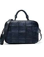 Men Cowhide Formal / Casual / Outdoor / Office & Career Laptop Bag Blue / Brown / Gray