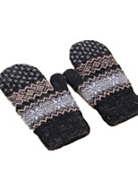 (NOTE - BLACK) MS. DOUBLE LAYER PLUS VELVET WARMTH OF KNITTED BAGS REFERS TO FOREIGN TRADE GLOVES