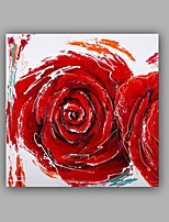 Hand-Painted Abstract / Floral Rose /Botanical 100% Hang-Painted Oil PaintingModern / Classic One Panel Canvas Oil Painting For Home Decoration