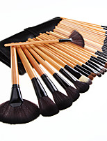 32 Makeup Brushes Set Synthetic/Horse Hair Professional / Portable Wood Handle Face/Eye/Lip