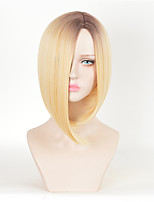 Blonde Ombre Wig Celebirty Kylie Jenner Wear Wig New Highlight Hairstyle Beauty Peruca Cosplay Short Straight Heat Resistant Synthetic Wigs for Daily