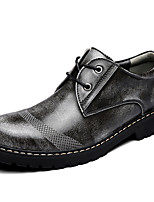Men's Oxfords Comfort Nappa Leather Fall Winter Casual Party & Evening Comfort Light Brown Gray Under 1in