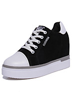Women's Sneakers Spring / Fall Platform Increased Within All Match Suede Outdoor / Athletic Platform Lace-up Black / Red Walking