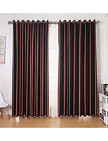 Two Panels Curtain Modern , Solid Living Room Polyester Material Curtains Drapes Home Decoration For Window