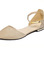 Women's Flats Fall Comfort Suede Casual Black Almond