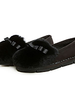 Women's Loafers & Slip-Ons Winter Comfort Polyester Casual Black Brown Gray