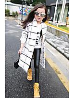 Pantalones Chica Casual/Diario Un Color AlgodónInvierno / Otoño