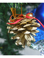 9 cones reais / decoração da árvore de natal
