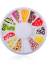 1pcs Manicure Soft Pottery Turntable Fruit Fruit Bar Accessories
