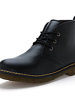 Men's Boots Others Cowhide Casual Black Brown Red