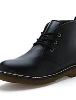 Черный / Коричневый / Красный-Мужской-На каждый день-КожаOthers-Ботинки